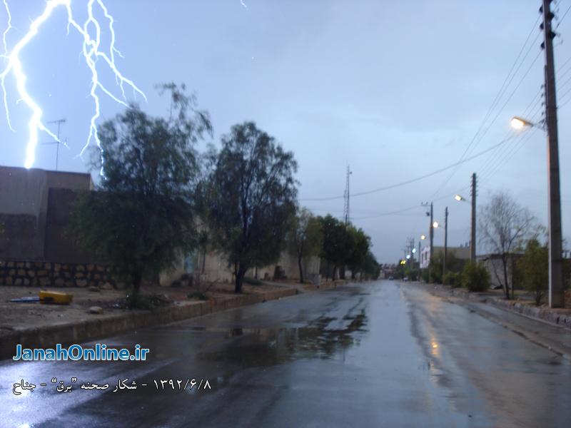 عکس هایی از بارش تابستانه باران دیروز + شکار صحنه