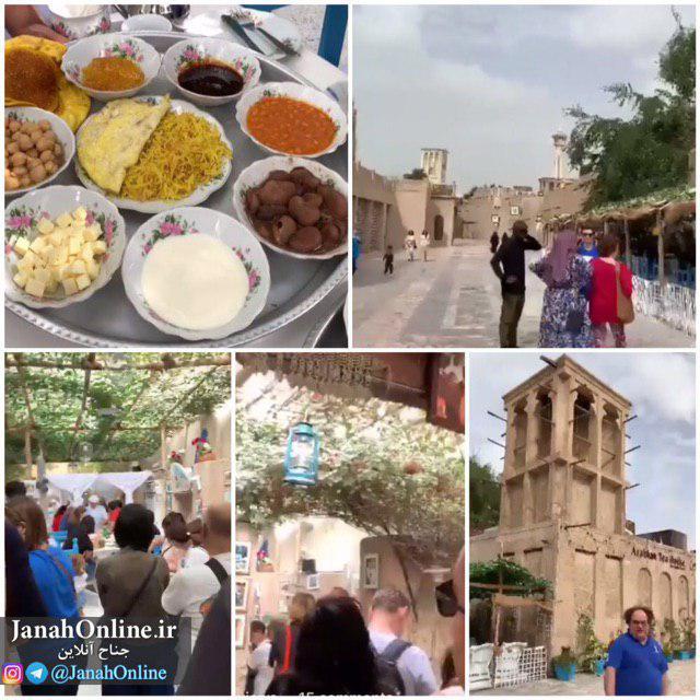 صف طویل گردشگران برای معماری وغذای جنوبی ایران در دوبی!